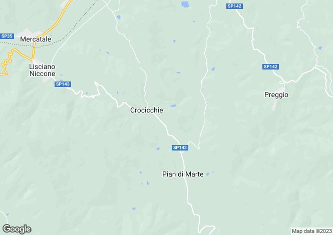 Map for Lisciano Niccone, Perugia, Umbria
