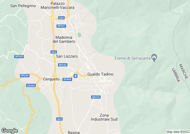 Map for Gualdo Tadino, Perugia, Umbria
