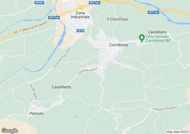 Map for Le Marche, Macerata, Corridonia