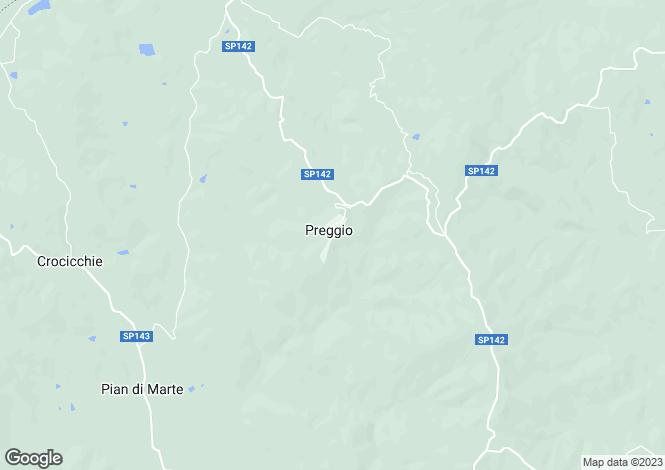 Map for Casella Pioppi, Preggio, Umbria, Italy