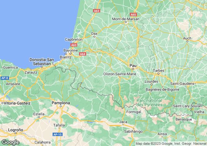 Map for oloron-ste-marie, Pyrénées-Atlantiques, France