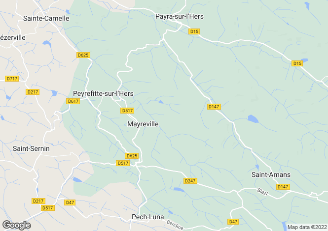 Map for Mayreville, Aude, Languedoc-Roussillon