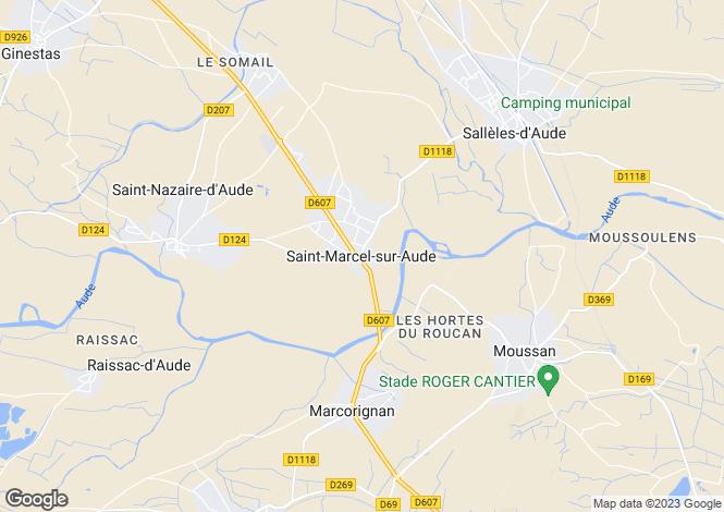 Map for Secteur: Saint-Marcel-sur-Aude, Aude