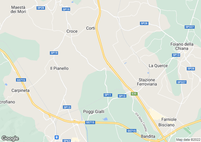Map for Italy - Tuscany, Arezzo, Lucignano
