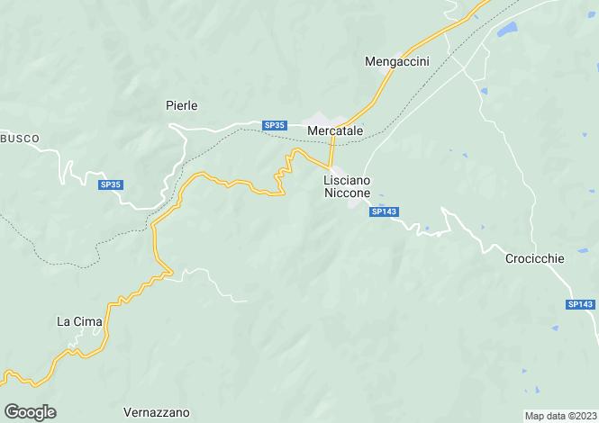 Map for Umbria, Perugia, Lisciano Niccone