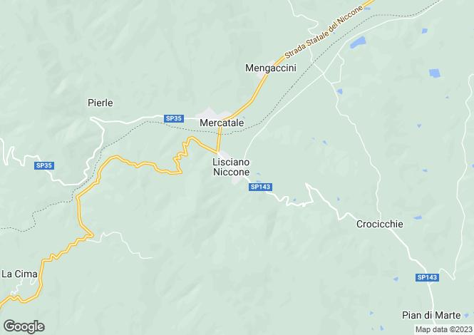 Map for Vista Al Poggio, Lisciano Niccone, Umbria, Italy
