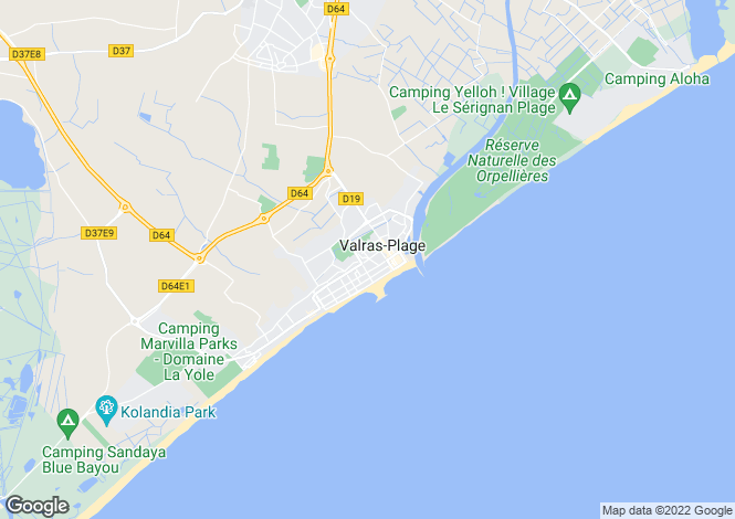 Map for Valras Plage, Languedoc-Roussillon, France