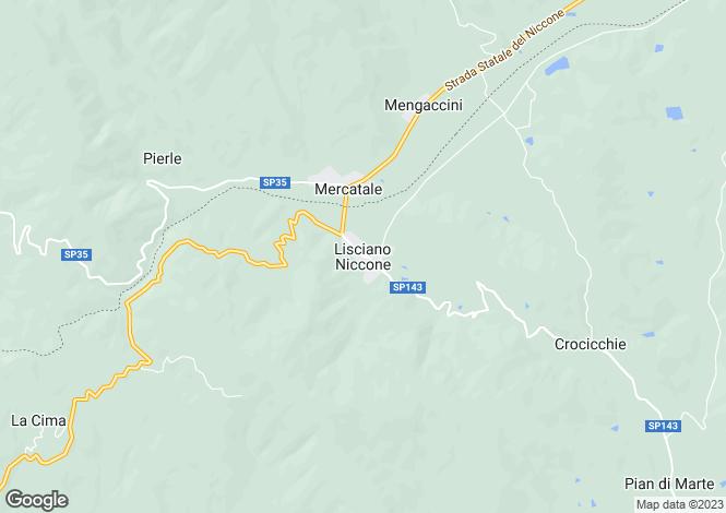 Map for Villa Lavanda, Lisciano Niccone, Umbria, Italy