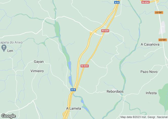 Map for Galicia, Lugo, Vilalba