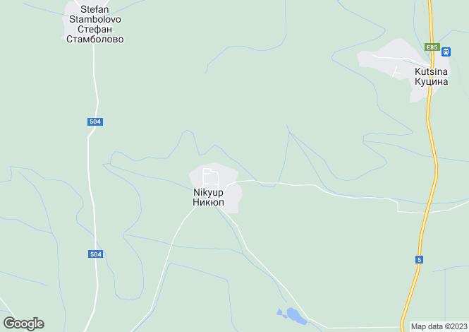 Map for Nikyup, Veliko Tarnovo