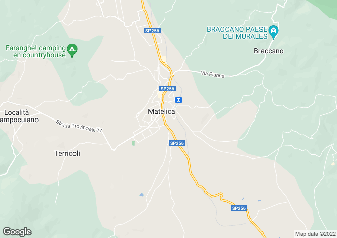 Map for Le Marche, Macerata, Matelica