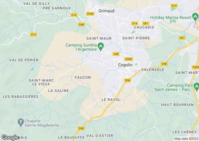 Map for Le Petit Faucon, Cogolin, France