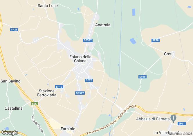 Map for Tuscany, Arezzo, Foiano della Chiana