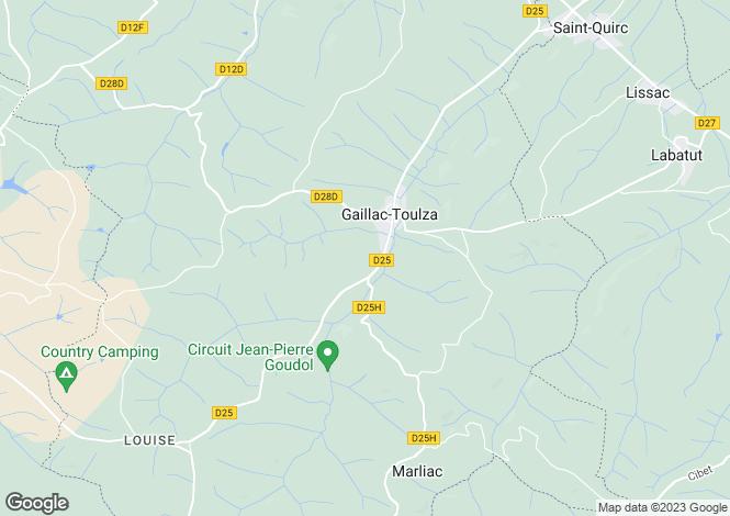 Map for gaillac-toulza, Haute-Garonne, France