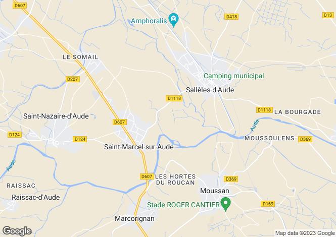 Map for 11120 st-marcel-sur-aude