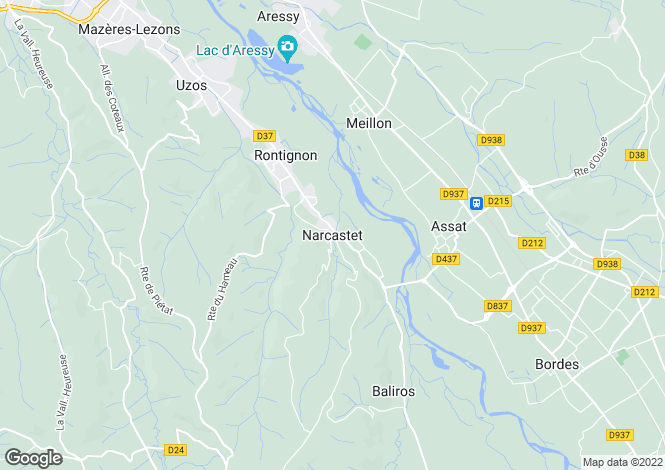 Map for Narcastet, Aquitaine, France