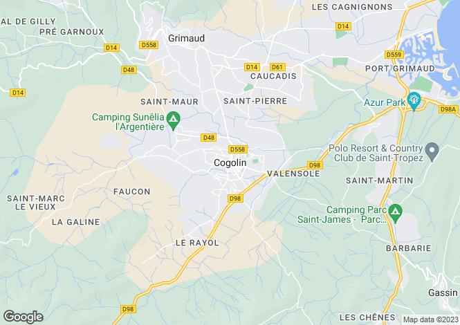 Map for Provence-Alps-Cote d`Azur, Var, Cogolin