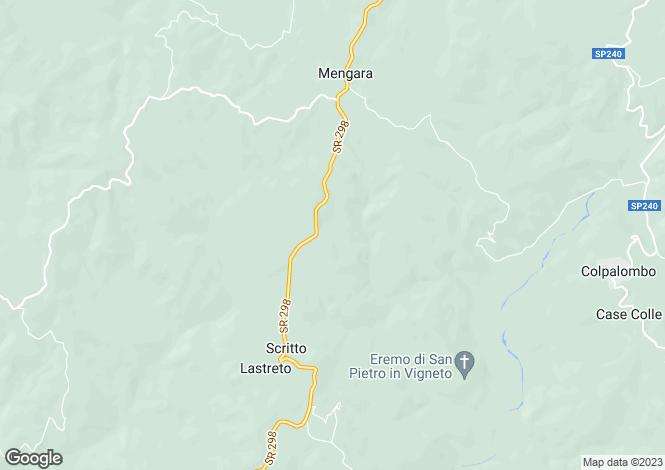 Map for Umbria, Perugia, Gubbio