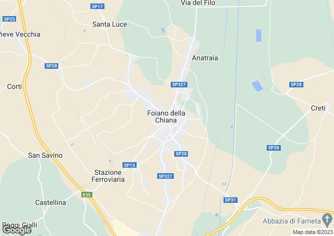 Map for Foiano della Chiana, Arezzo, Tuscany