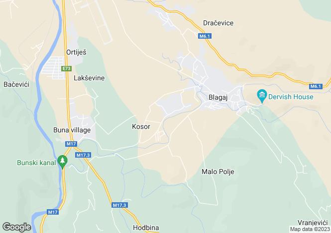 Map for Blagaj, Federacija Bosna i Hercegovina