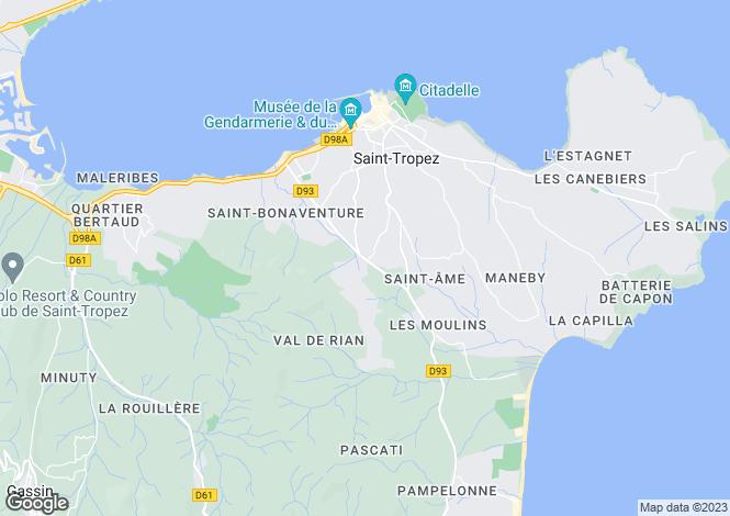 Map for Provence-Alps-Cote d`Azur, Var, Ste-Maxime