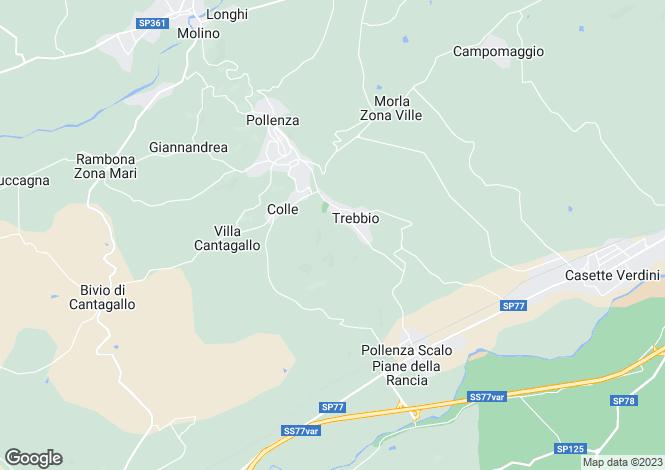 Map for Pollenza, Macerata, Le Marche