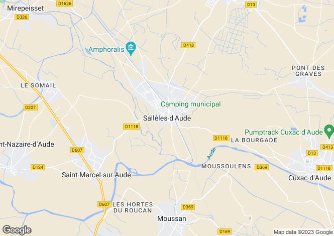 Map for Sallèles-d'Aude, Aude