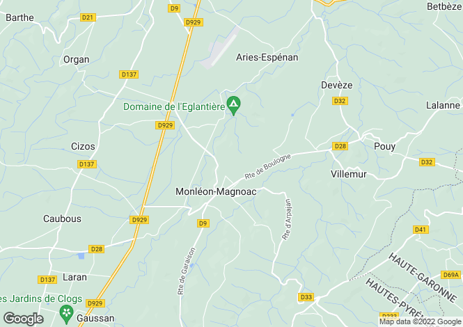 Map for monleon-magnoac, Hautes-Pyrénées, France