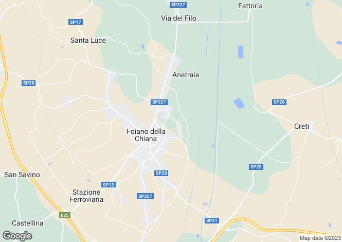Map for Foiano Della Chiana, Lucignano