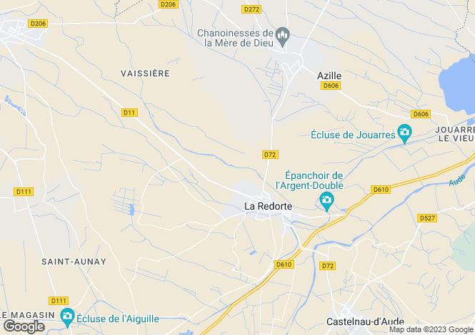 Map for Languedoc-Roussillon, Aude, La Redorte