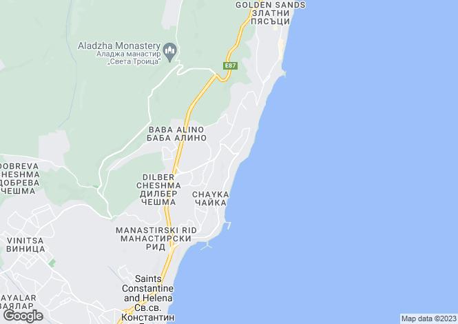 Map for Varna, Golden Sands