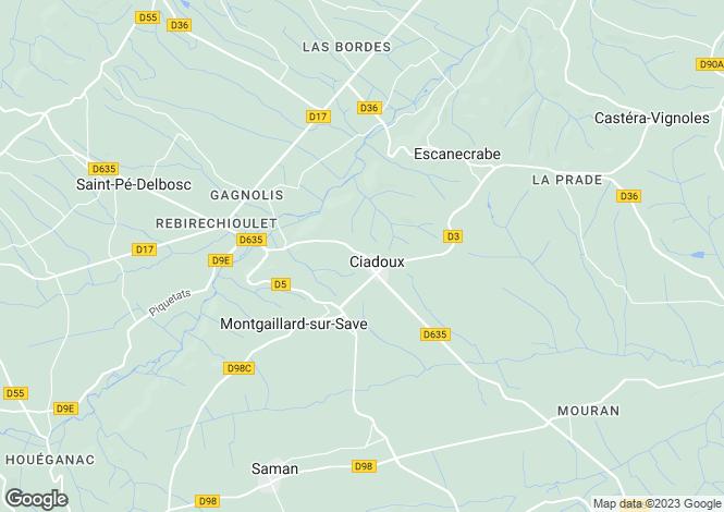 Map for ciadoux, Haute-Garonne, France