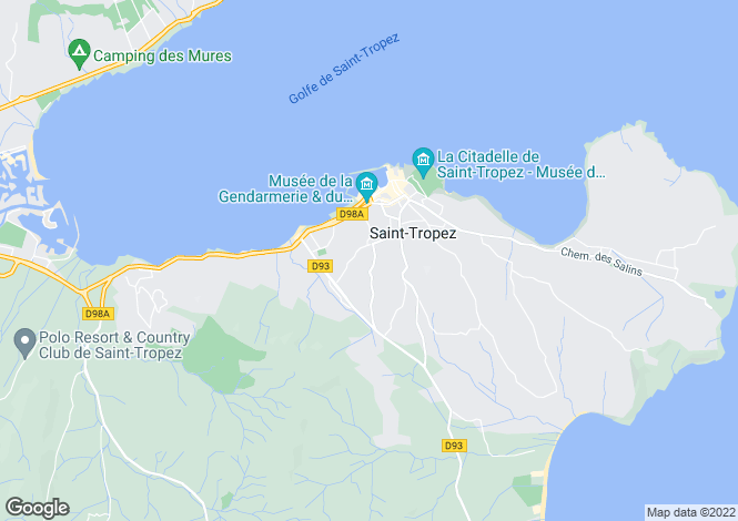 Map for Saint-Tropez, French Riviera, Var Coast