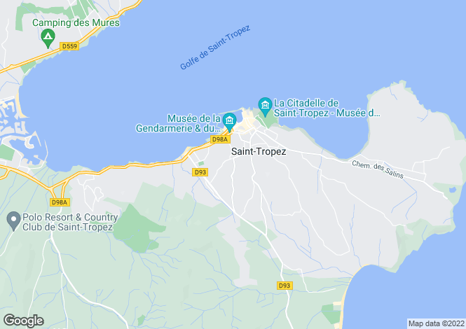 Map for Les Carles, Saint-Tropez, French Riviera