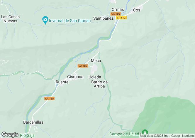 Map for Ruente, Santander, Cantabria