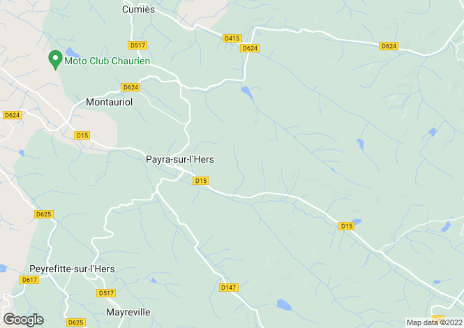 Map for 11410 PAYRA-SUR-L'HERS, Aude, France