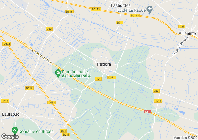 Map for Languedoc-Roussillon, Aude, Pexiora