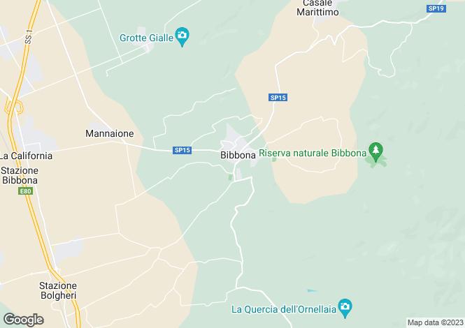 Map for Tuscany, Livorno, Bibbona