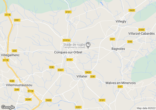 Map for conques-sur-orbiel, Aude, France
