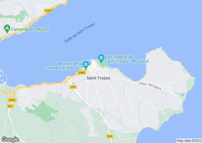 Map for Saint Tropez, French Riviera