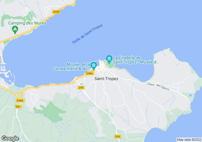 Map for Saint-Tropez, French Riviera