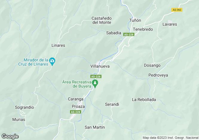 Map for Villanueva, Asturias, Spain