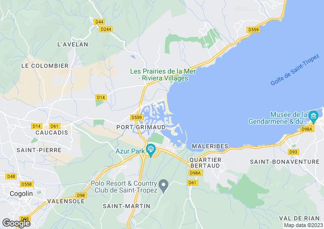 Map for Provence-Alps-Cote d`Azur, Var, Port Grimaud
