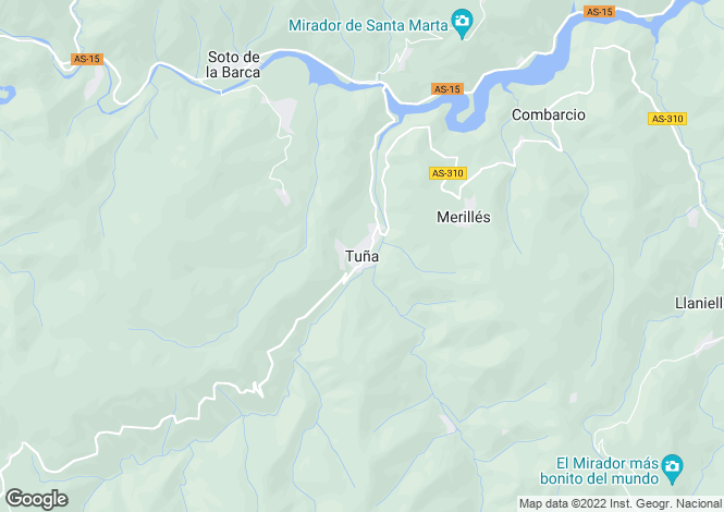Map for Tuna, Tineo, Asturias, Spain