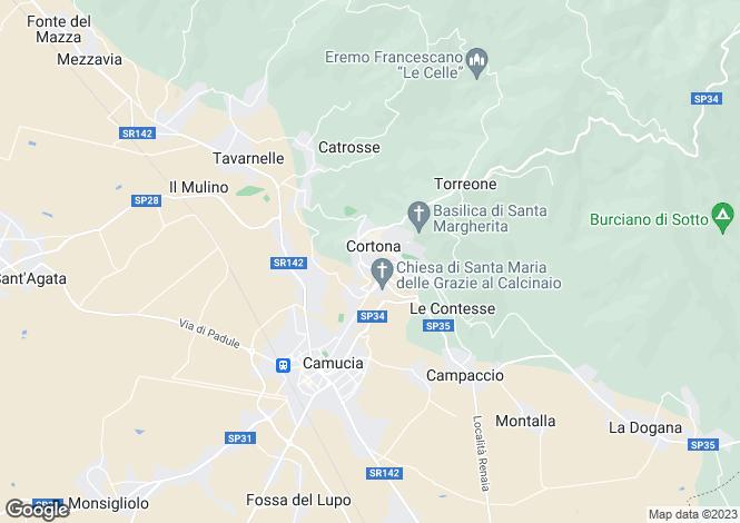Map for Villa Cipressi, Cortona, Tuscany, Italy