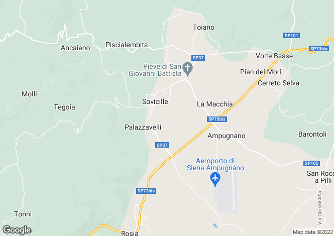 Map for Sovicille, Siena, Tuscany