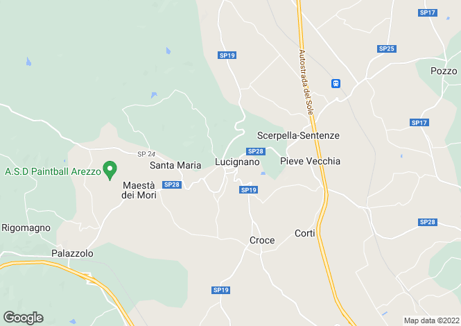 Map for Tuscany, Arezzo, Lucignano