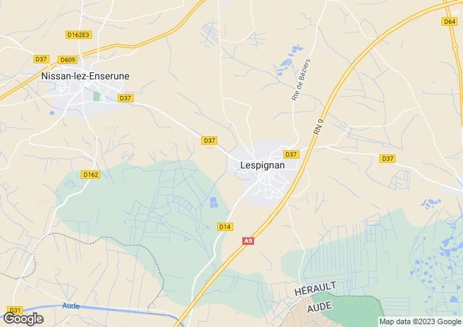 Map for LESPIGNAN, Narbonne Area, Languedoc,