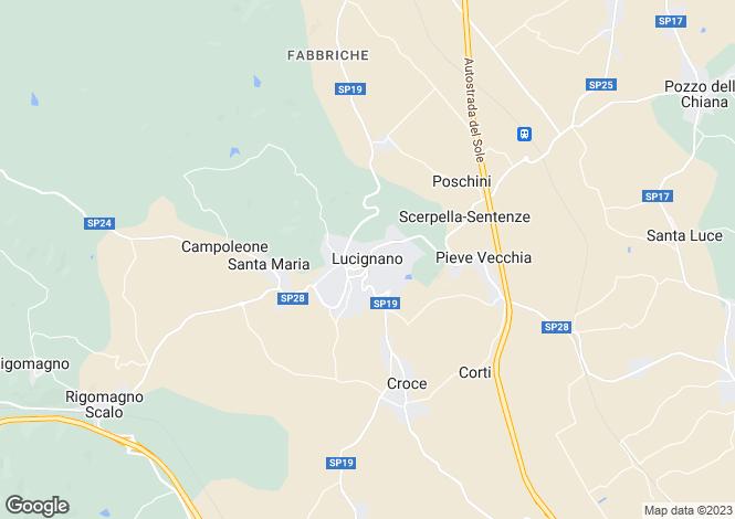 Map for Villa Lucignano, Lucignano, Tuscany, Italy