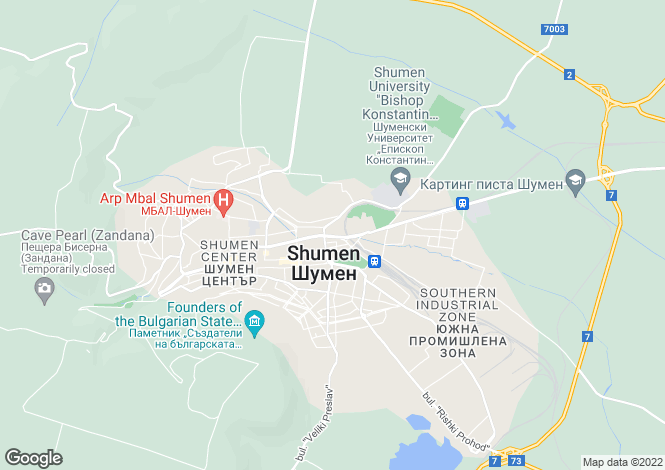 Map for Shumen, Shumen